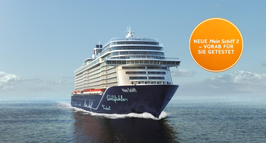 TUI Cruises, Neue Mein Schiff 2 inkl Flug Transfer Rail&Fly