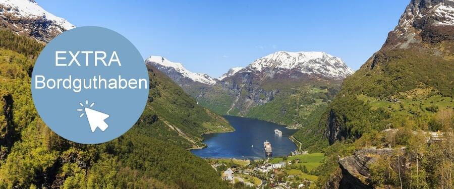 Kreuzfahrten norwegische Fjorde plus Extra Bordguthaben